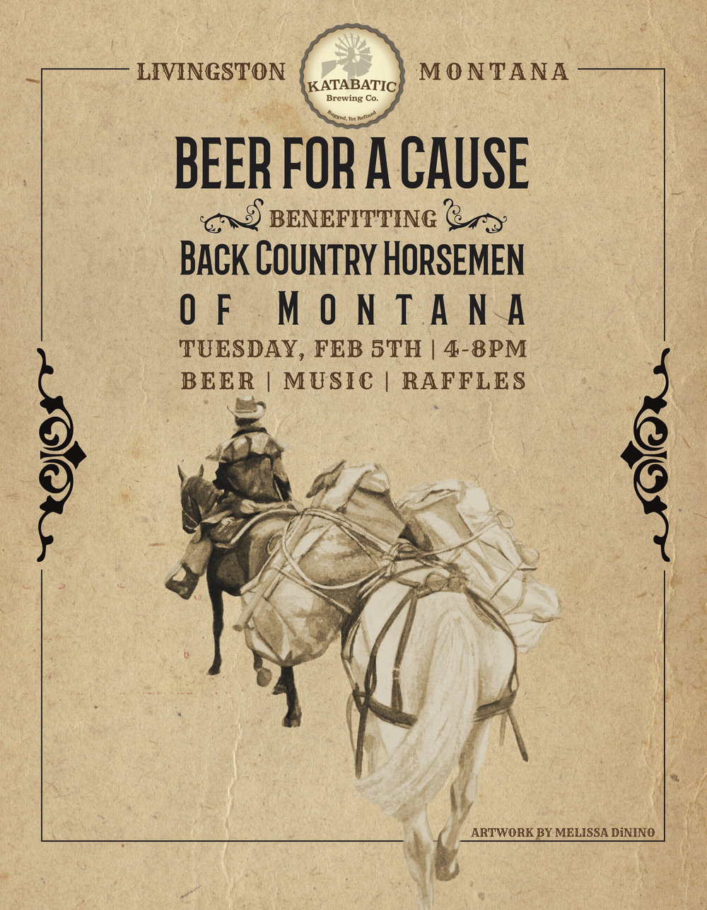 Back Country Horsemen of Montana | Katabatic Brewing Co. | Beer for a Cause | Melissa DiNino | Montana Graphic Designer