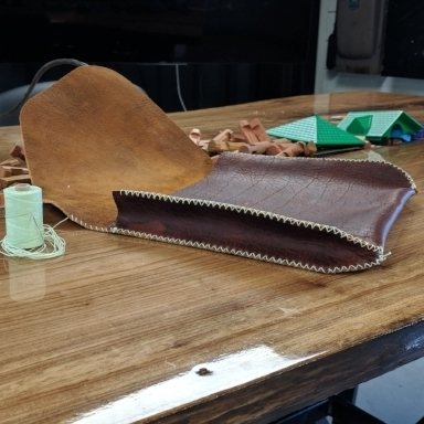 LEATHERWORKING  - Traditional craftsmanship meets high-tech manufacturing,as we use our advanced waterjet cutting techniquesto rapidly create leather patterns, evenpre-punching stitch holes.