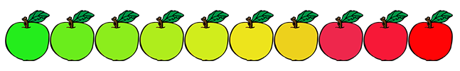 Image of 10 apples that are used to rate hard ciders