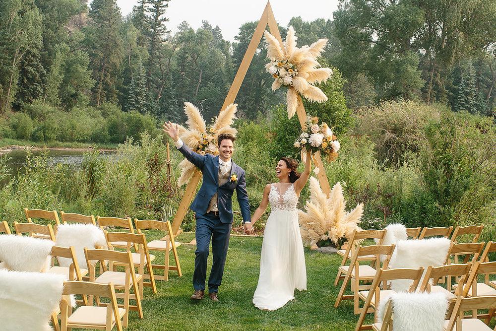 Luxury destination wedding at River crest cabins