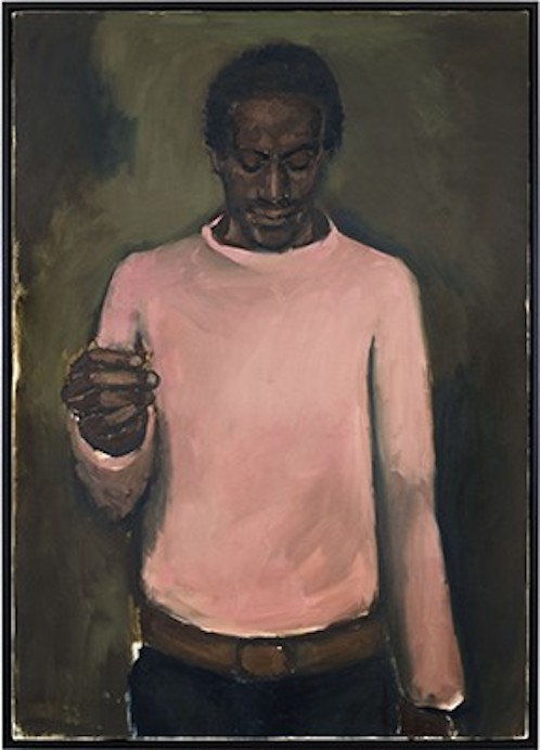"""Jewel""   Lynette Yiadom-Boakye  2012  Oil on canvas  55-1/8 x 39-1/2 in."