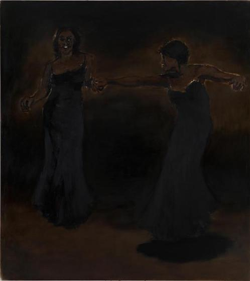 """Half a Dozen Dead""  Lynette Yiadom-Boakye  2010  Oil on canvas  180 x 200 cm"