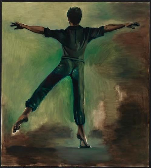 """Interstellar""  Lynette Yiadom-Boakye  2012  Oil on canvas  200 x 180 cm"