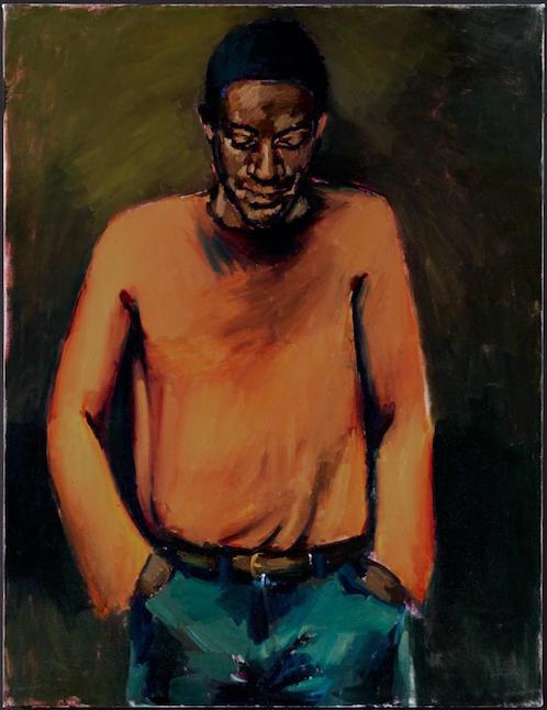 """""""Diamonds""""  Lynette Yiadom-Boakye  2013  Oil on canvas  130 x 100 cm"""
