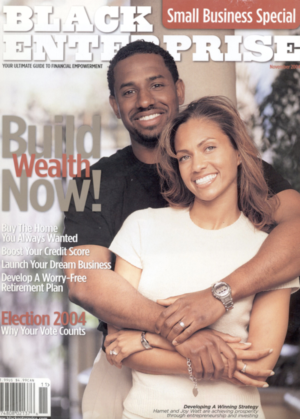 Hamet and Joy Watt for Black Enterprise, 2004
