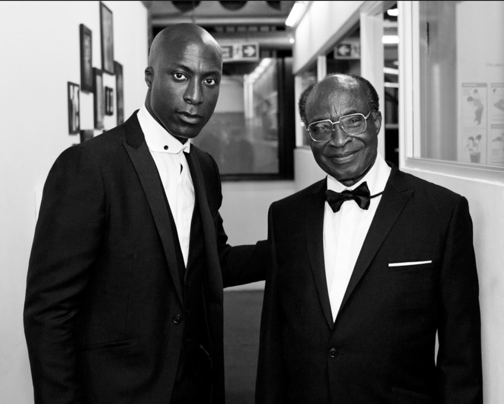 Photo Credit: Ozwald Boateng, 2010 (with Father)