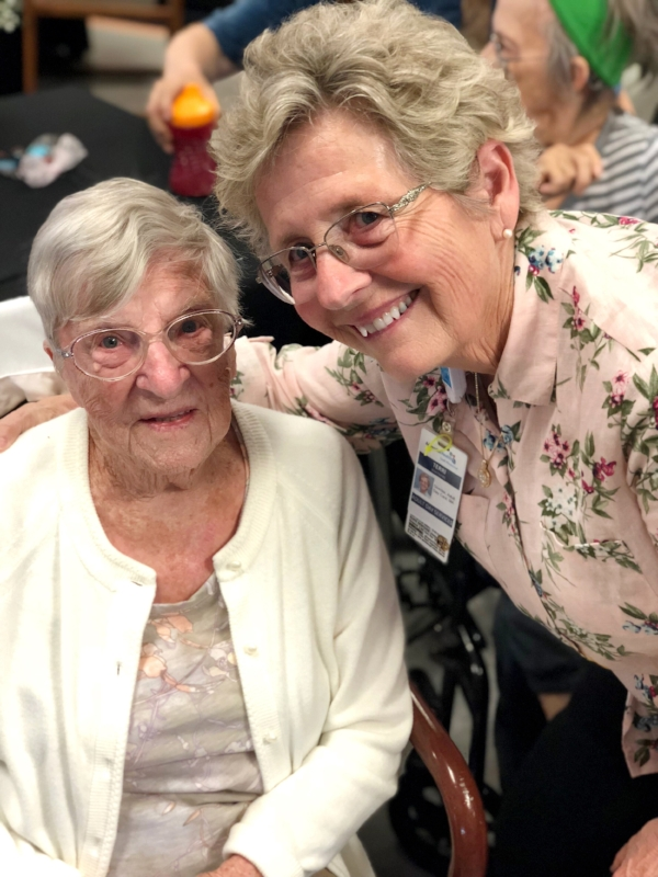 Terrie, the Lodi Adult Day Care Director, with a family member