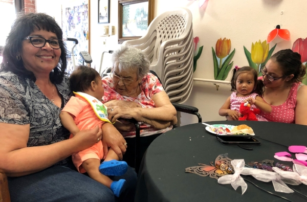 You probably already know trying to get the illusive, perfect family picture with little ones and a great grandma is next to impossible, but there's still a lot of cuteness happening ;)