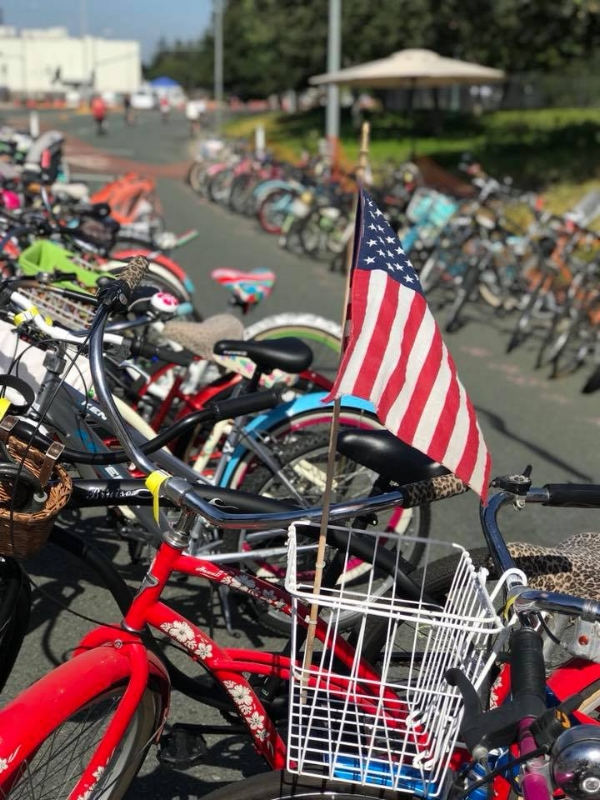 Bikes at Kiwanis 4th of July Pancake Breakfast. That morning Bike Lodi's valet services took care of hundreds of riders and their bikes. Pictures compliments of  Bike Lodi Facebook .