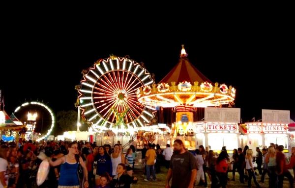 Lodi Grape Festival at night. Photo from  Lodi Grape Festival Facebook.