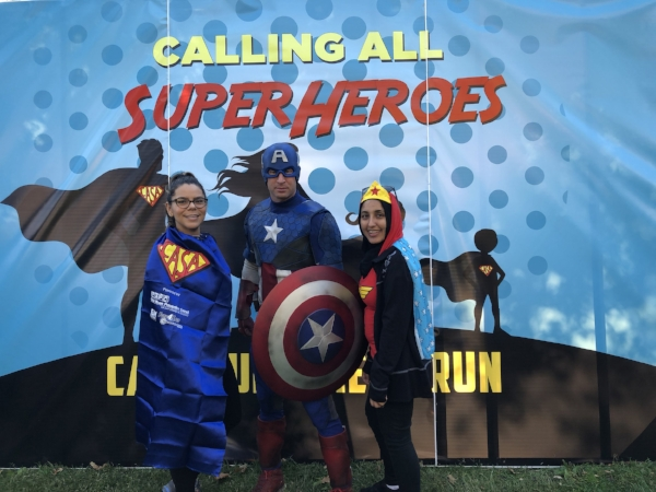 Some of the runners at the Superhero Fun Run