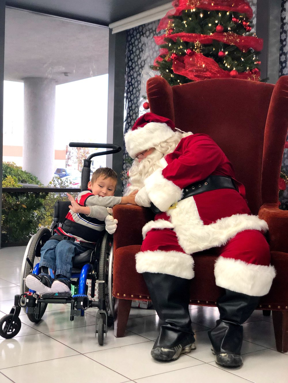 Matthew and Sensitive Santa