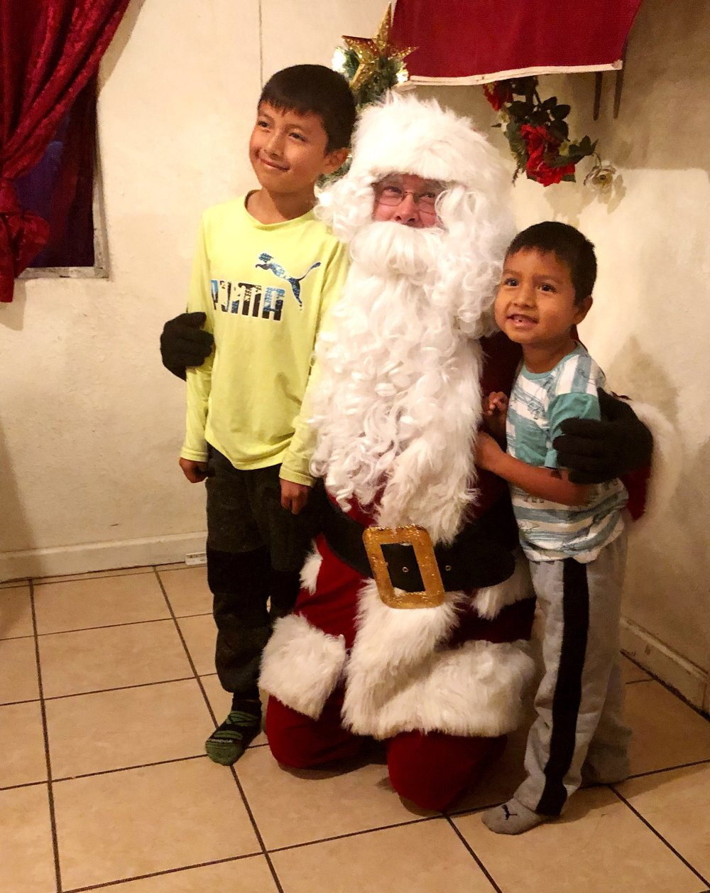 Santa and the first two boys