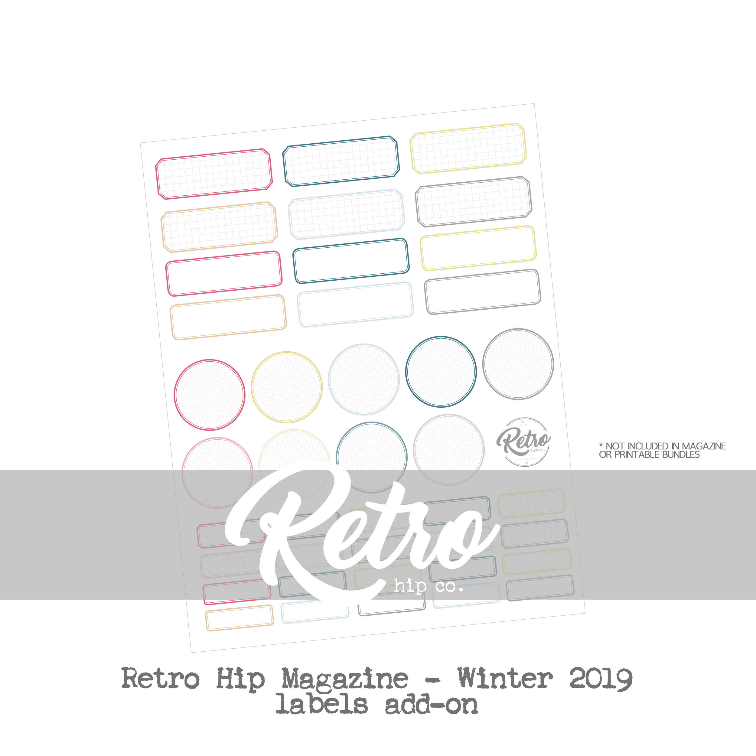 Retro Hip Magazine Add-on - Winter 2019 - Labels only