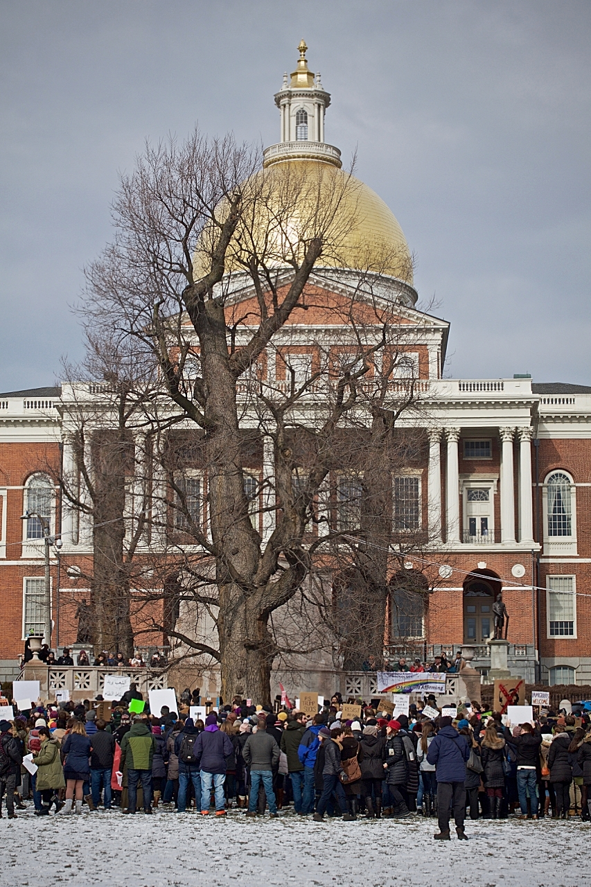 PROTEST AT MASSACHUSETTS STATE HOUSE   - BOSTON