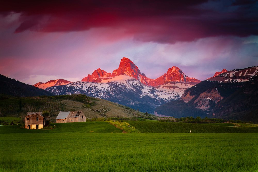 Idaho Grand Teton Sunset