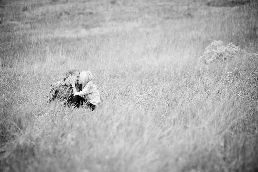 Alone in a field