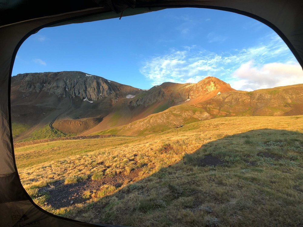 Views from the tent at Cinnamon Pass - iPhone 8 Plus, Moment Wide Lens