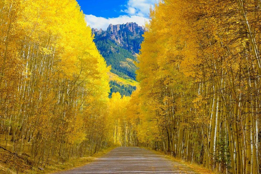 Owl Creek Pass along the Cimmaron Mountain Range during the fall season - Fuji XT2, XF 50-140mm f/2.8 @ 50mm