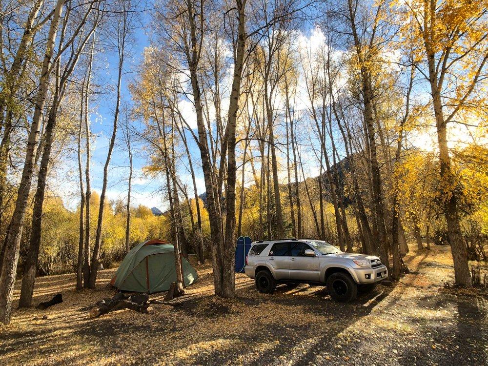 Camping spot along Owl Creek Pass - iPhone 8 Plus, Moment Wide Lens