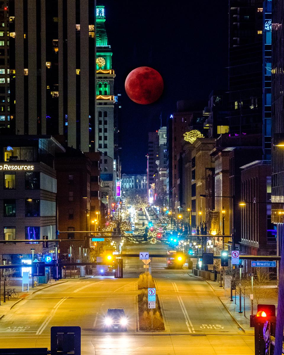 Super Blood Wolf Moon Over Denver