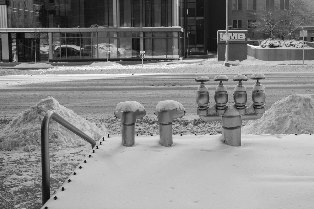 Snow Covered Pipes