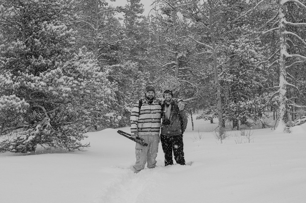 My snow adventure friends, Ryan and Chase.