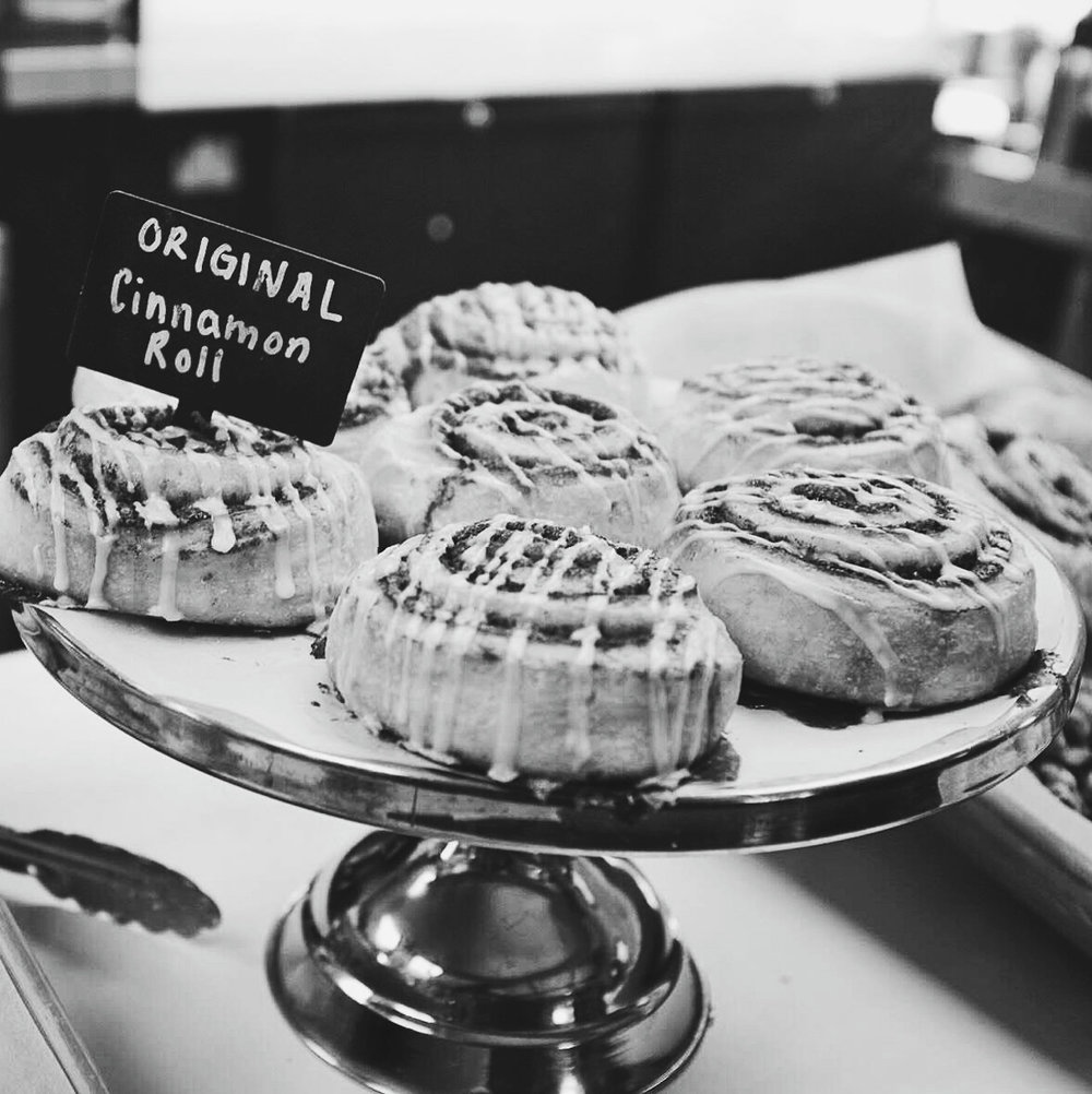 Day 91- 365 Day B&W Photo Challenge - Cinnamon Rolls- Fuji X100F, VSCO with b5 preset