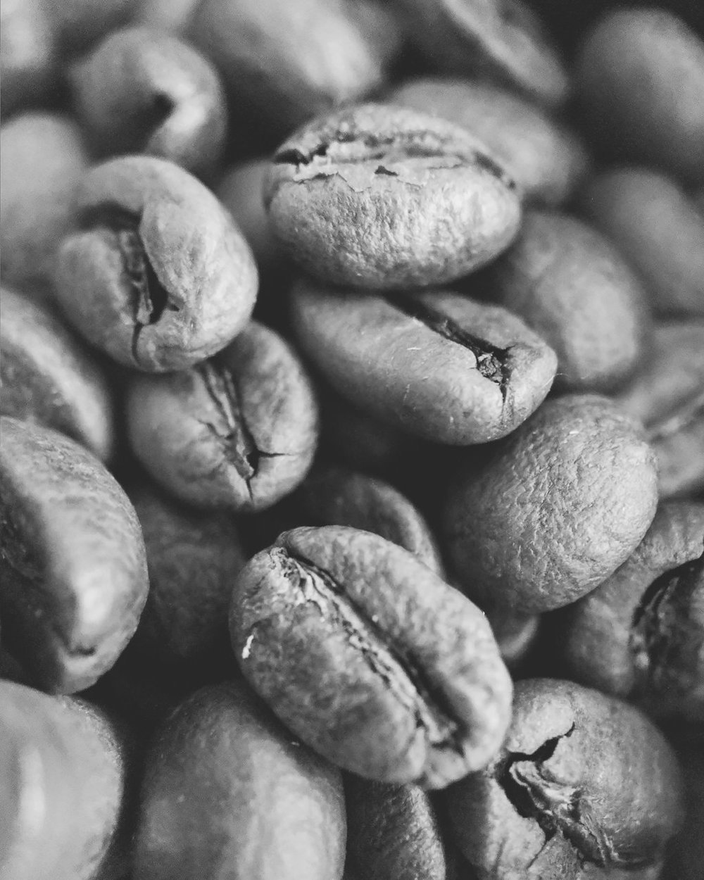 Day 98- 365 Day B&W Photo Challenge - Coffee Beans - Google Pixel 3, Moment Macro Lens, VSCO with fn16 preset