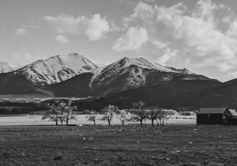 Day 140- 365 Day B&W Photo Challenge - Views of Mt. Princeton, from the San Isabel National Forest.. - Google Pixel 3, Moment Tele Lens, VSCO  KX4 film simulaiton