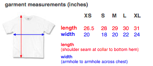 T-SHIRT // FITTING CHART