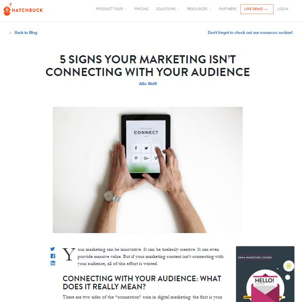 B2B Blog Post Sample - This B2B blog post offers marketing tips to solopreneurs and salespeople.