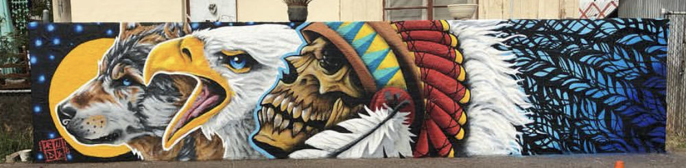 Mural that was designed for Electrik Needle Tattoo, Located at 1028 Grand Ave, Phoenix, AZ 85007