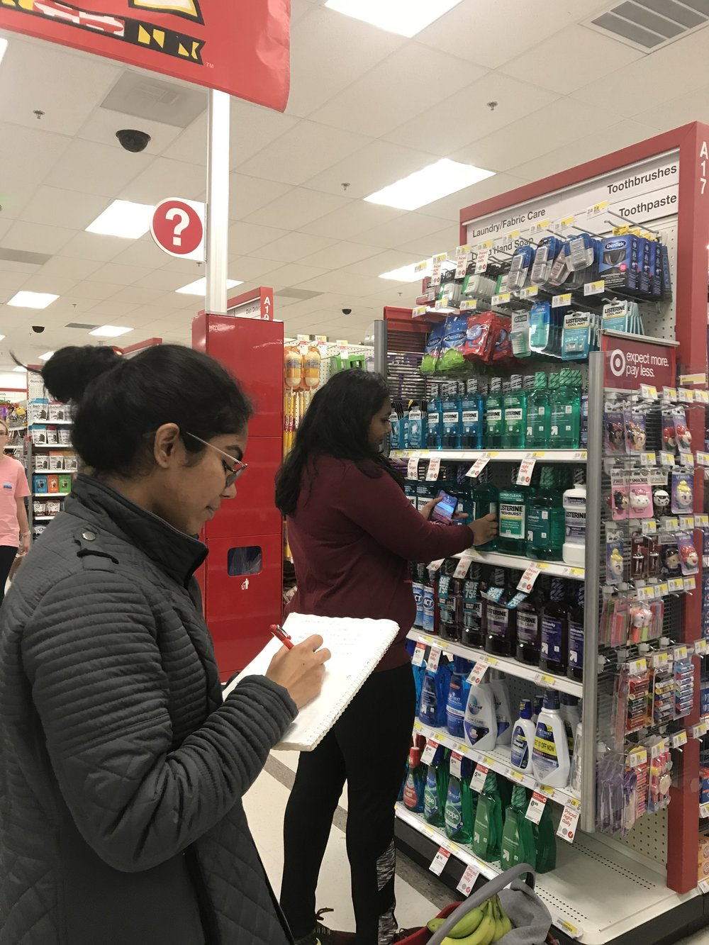 Image 5. A contextual inquiry in progress with an interviewee at Target.