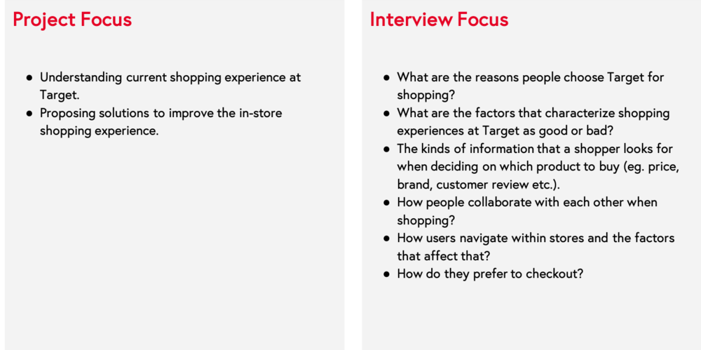Image 4. Project and Interview Focus