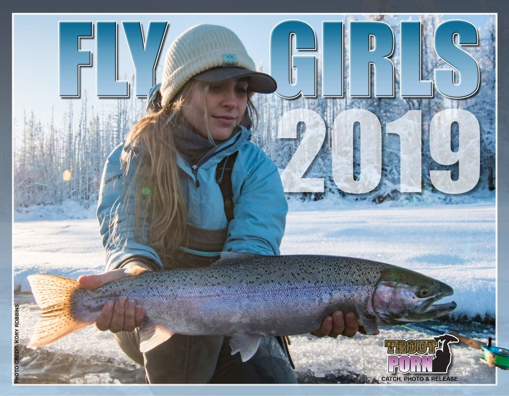 Covergirl for Trout Porn Fly Girls 2019 Calendar