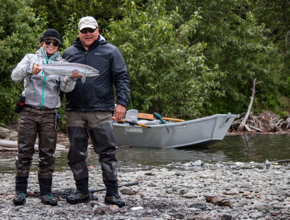 My dad and I fishing for sockeye salmon in 2017. Photo by Kory Robbins