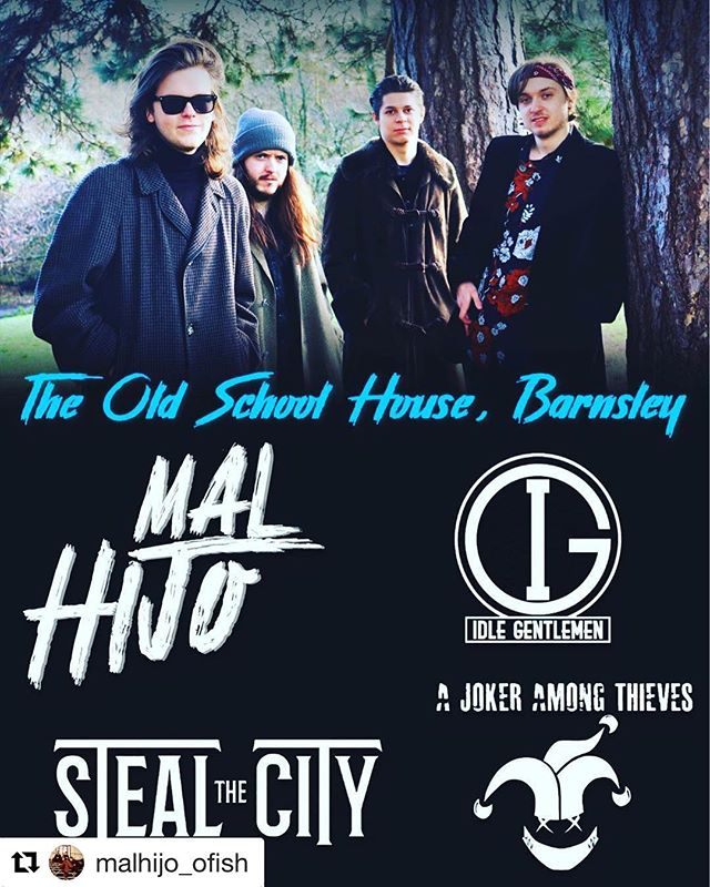 #Repost @malhijo_ofish - Looking forward to this one guys! We promise it's nice and warm in the venue 😅 Remember folks, it's free entry to this event so why not come and join us tomorrow for a night of great music! #barnsleyisbrill #livemusicinbarnsley #barnsley  Tomorrow night we're going to throw all our gear into a van and attempt to venture through the Pennines in sub-zero temperatures and hazardous weather conditions all in the name of music.  We've deliberately removed the break fluid from our gig van just to add another element of suspense to our endeavour.  We're thrilled to be supporting our mates @idlegentlemen along with @stealthecityuk and @a_joker_among_thieves at Barnsley's The @oldschoolhousebarnsley  We can't wait.  #barnsely #yorkshire #winter #hazerdous #warning #underground #undergroundmusic #unsigned #rockandroll #getdown #fridaynight #heavy #blues #retro #vintage #seftonpark