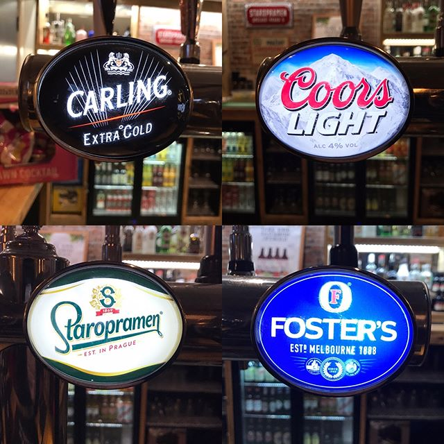Quench your thirst with some of our delicious lagers 🍺😋 What's your favourite? #saturdaynight #beerstagram #carling #coorslight #fosters #staropramen #lovelyjubbly #barnsleyisbrill