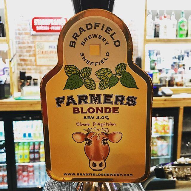 On the bar is @bradfieldbrewery #FarmersBlonde only £3.40 a pint! 👏 #realale #beersofinstagram #beerstagram #barnsley #barnsleyisbrill #mondaymood #oldschoolhousebarnsley