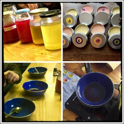 Lip balm making workshop.