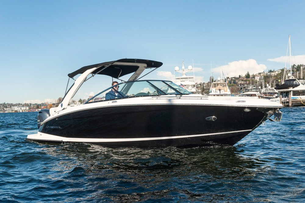 2017 29' Regal OBX   - The 29 OBX is the epitome of luxury outboard powered boating. Combining the luxury and innovation Regal is known for with the versatility of outboard power, this is our way of rejecting the notion that form must follow function.Courtesy of Alexander Marine USA.