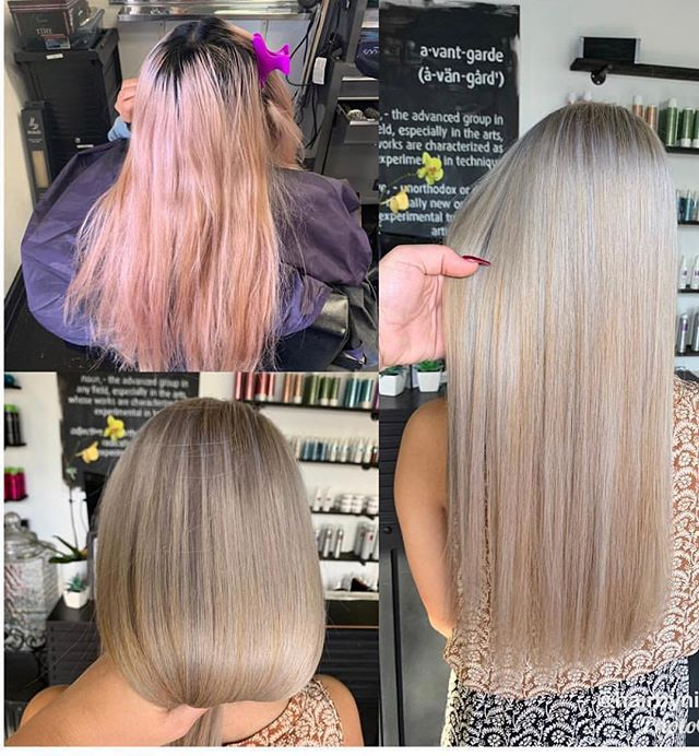Second session going platinum blonde 👱🏻♀️ ❕💁🏼♀️ _____________________________________ ___________________________ Happy Saturday  Stylist @hairbyniky  #loveblondes #platinumblonde