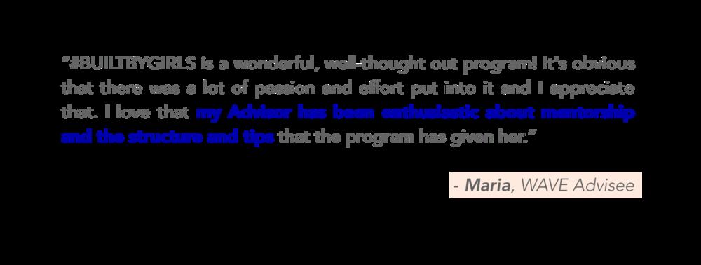 Testimonial on mentorship