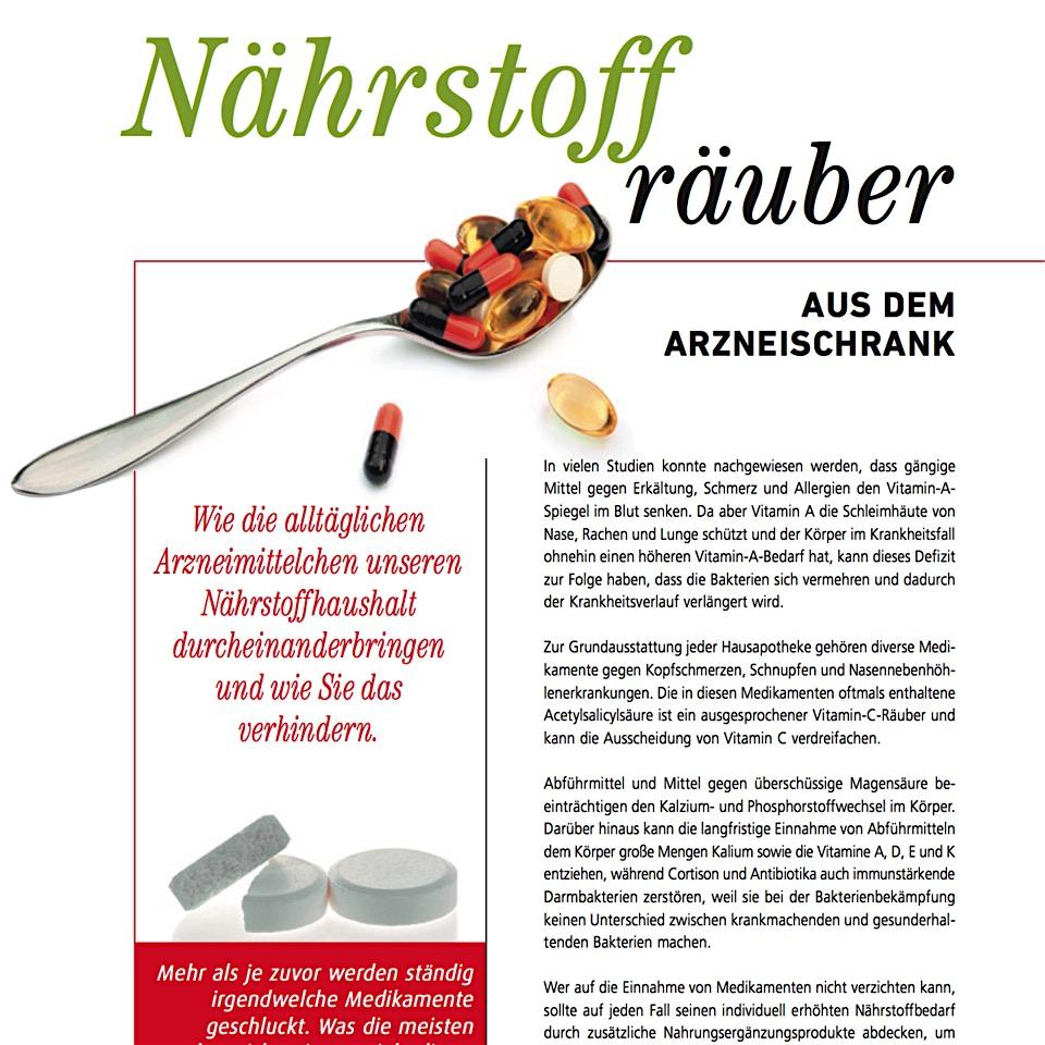 NÄhrstoffrÄuber aus dem Arzneischrank -