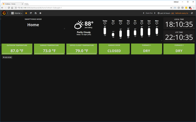 Adding Live Weather to Your Grafana Home Dashboard — Michael