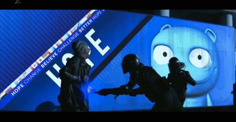 "In ""The Waldo Moment,"" an episode of  Black Mirror , a blue animated bear named Waldo becomes a weaponized political meme."