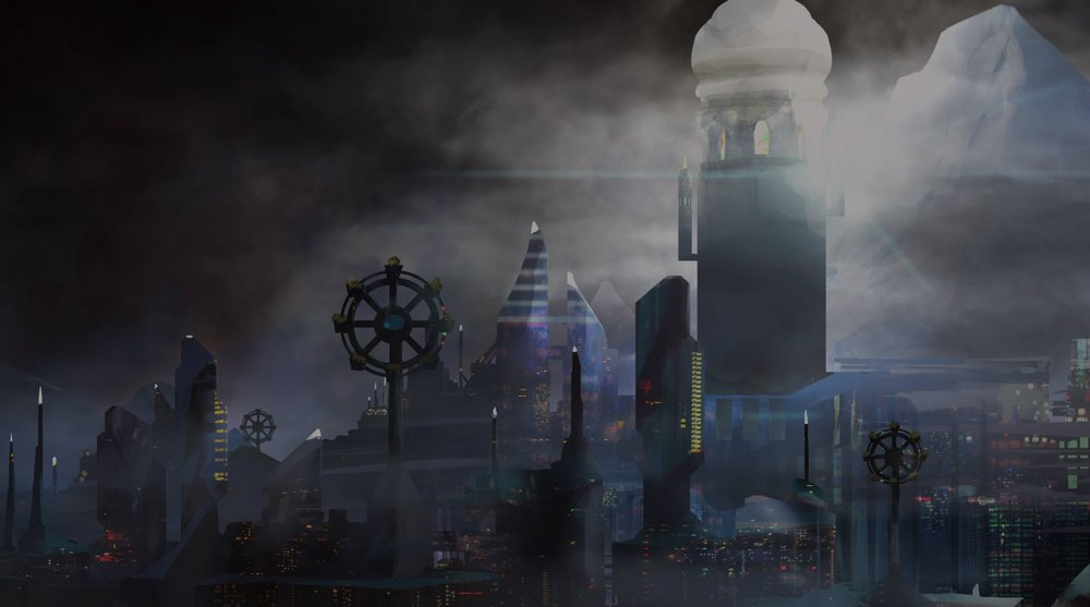 The city of Xiosphant from  The City in the Middle of the Night , by Charlie Jane Anders. Illustration by  Valentina Filic.