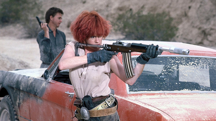 Getting cyber in the classic 1988 film,  Cherry 2000 . Hell yes that's Melanie Griffith as a bit smuggler.