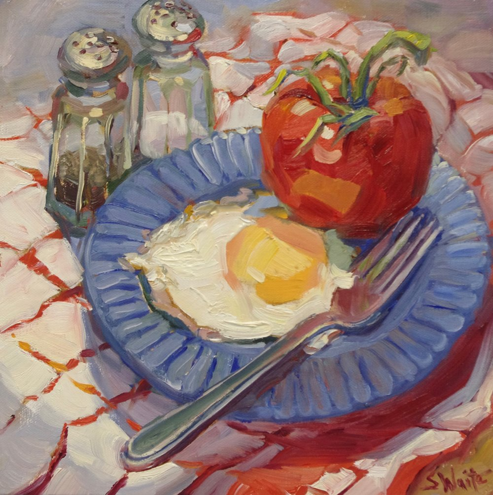 _Tomato and Egg_   oil  8x8 .jpg